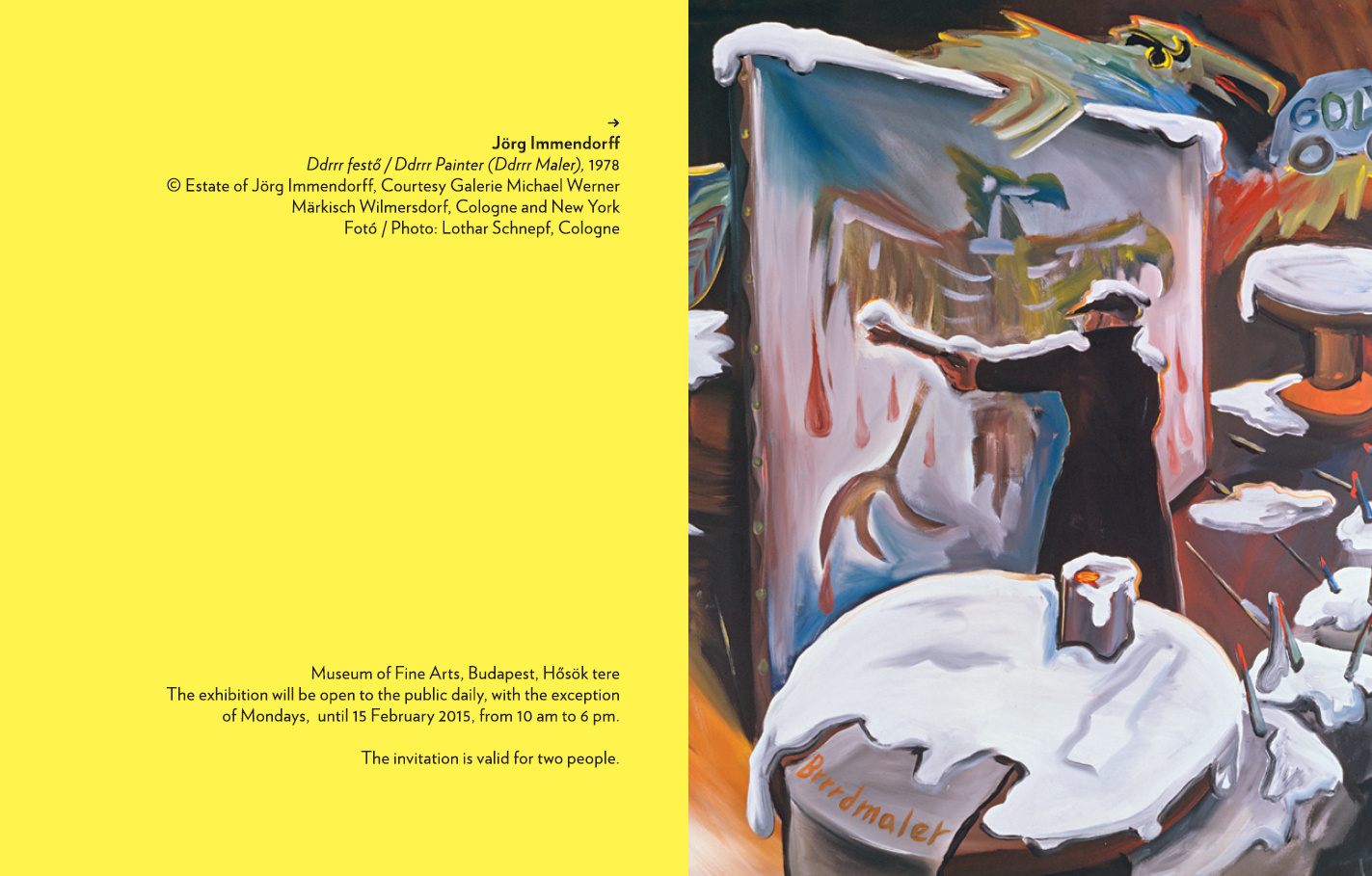 Jörg Immendorf, Long Live Painting, Einladung