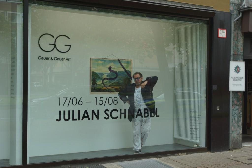 Ausstellungseröffnung von und mit Julian Schnabel